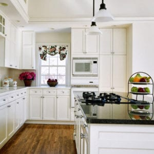 kitchen painted in white